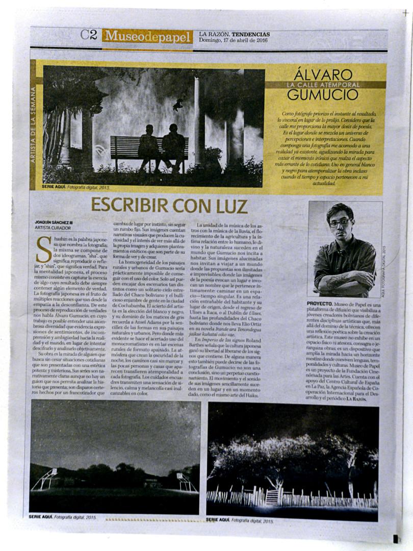 Museo de Papel - La razón